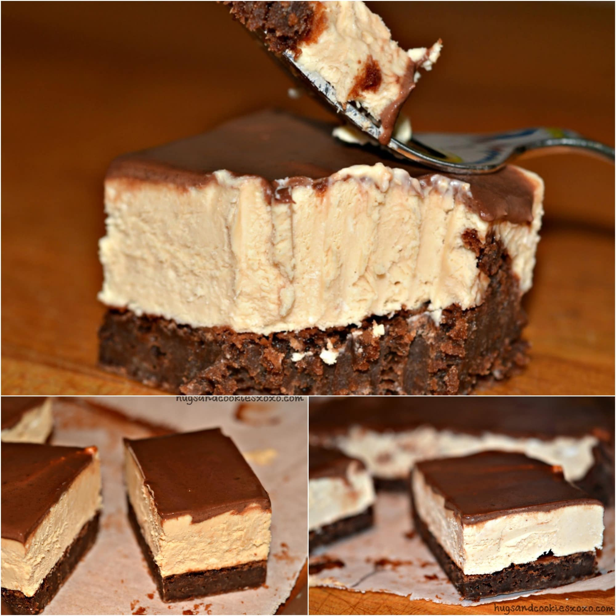 PEANUT BUTTER CHEESECAKE BROWNIE BARS WITH GANACHE