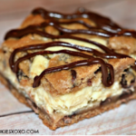 CHOCOLATE CHIP BARS STUFFED WITH CHEESECAKE