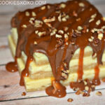 TURTLE CHEESECAKE SUGAR COOKIE BARS-CHOCOLATE, CARAMEL & PECANS…OH MY!