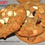 CRANBERRY WHITE CHOCOLATE CHIP COOKIES!!!