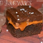ROLO BROWNIES WITH FUDGE TOPPING
