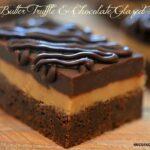 PEANUT BUTTER TRUFFLE & CHOCOLATE GLAZED BROWNIES