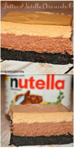 PEANUT BUTTER & NUTELLA OREOS CHEESECAKE BARS