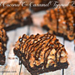 TOASTED COCONUT & CARAMEL TOPPED BROWNIES-just like your favorite girlscout cookie!!!