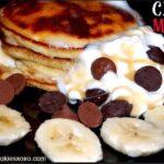 CHUNKY MONKEY CHOCOLATE CHIP BANANA PANCAKES