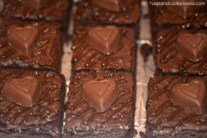 Chocolate Brownies Topped With Reese's Hearts