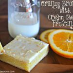 Orange Brownies With Orange Cream Cheese Frosting