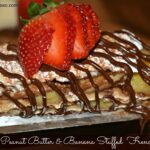 Chocolate Peanut Butter & Banana Stuffed French Toast