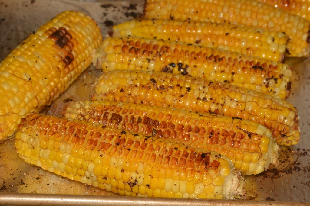 shrimp and roasted corn