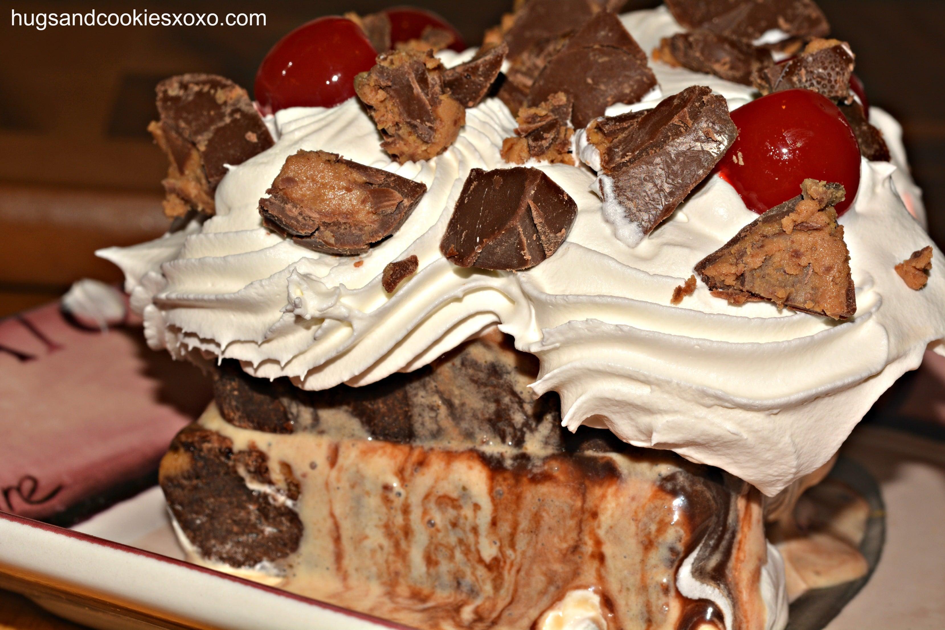 Peanut Butter Brownie Ice Cream Cake - Hugs and Cookies XOXO