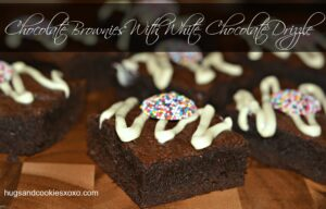 Chocolate Brownies With a White Chocolate Drizzle