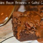 Maple Praline Bacon Brownies