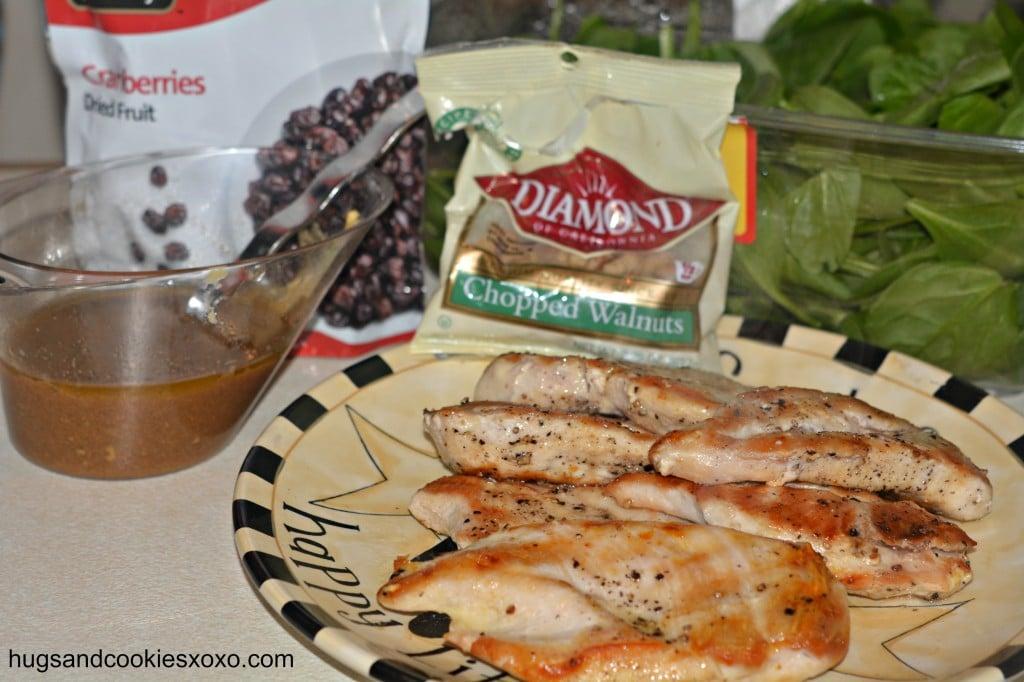 grilled chicken with baslsamic vinaigrette