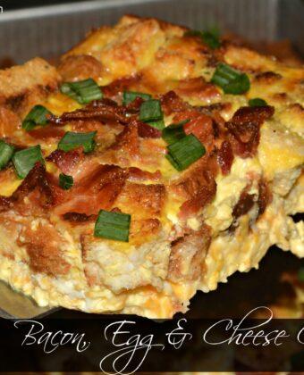 bacon, egg & cheese casserole