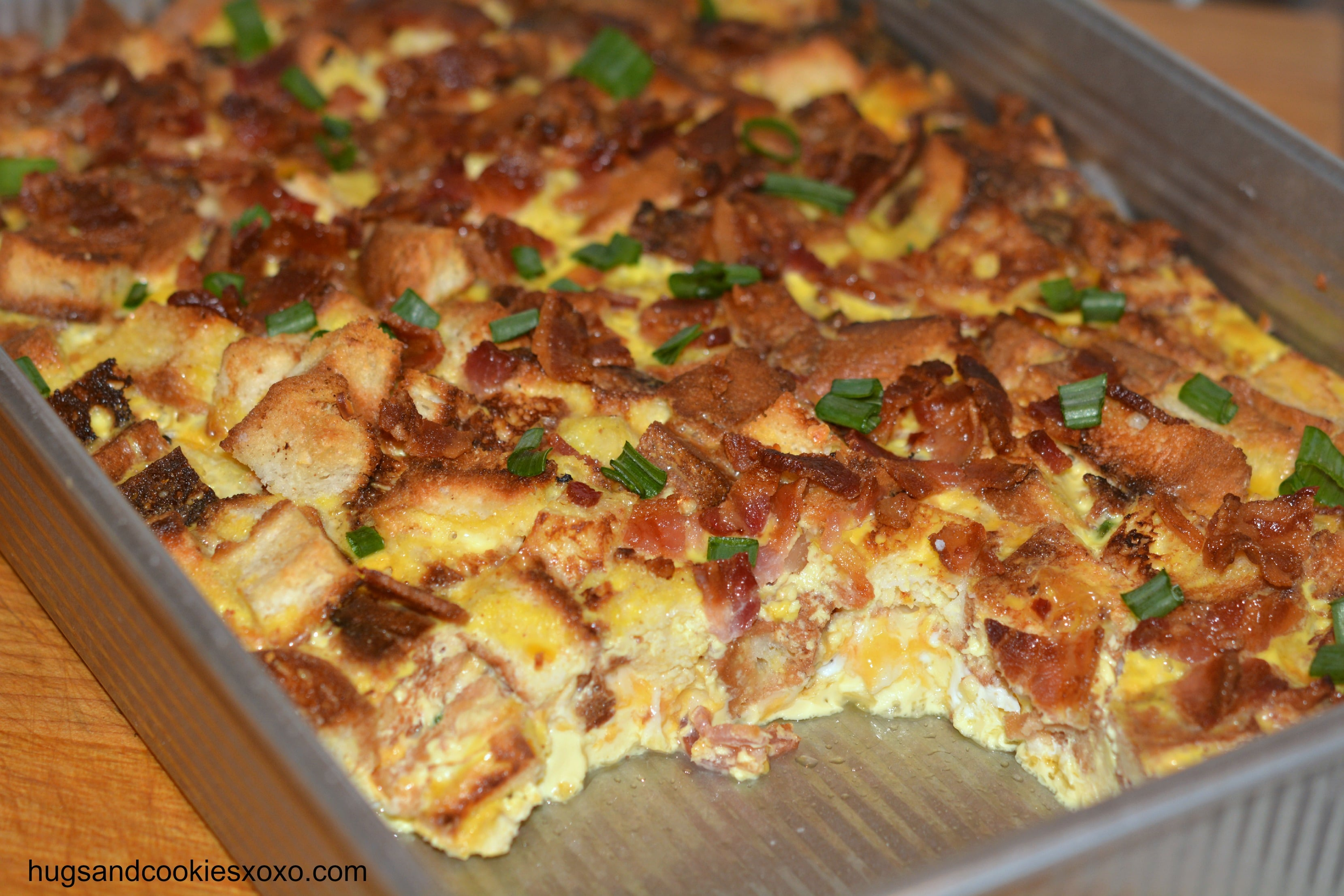 Overnight Bacon, Egg & Cheese Casserole - Hugs and Cookies XOXO