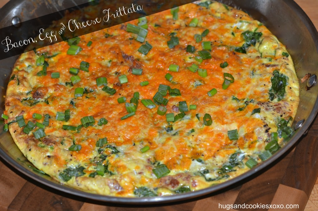 Bacon, Egg & Cheese Frittata - Hugs and Cookies XOXO