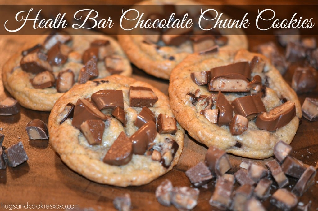 heath bar chocolate chunk cookies