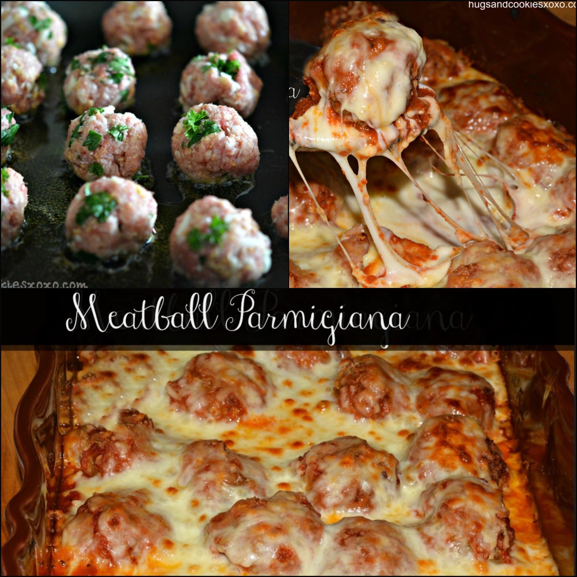 Baked Meatball Parmigiana Hugs And Cookies Xoxo