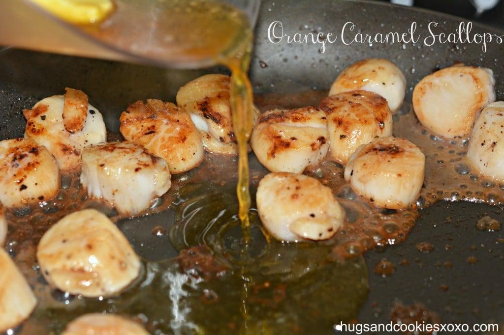 caramel orange scallops