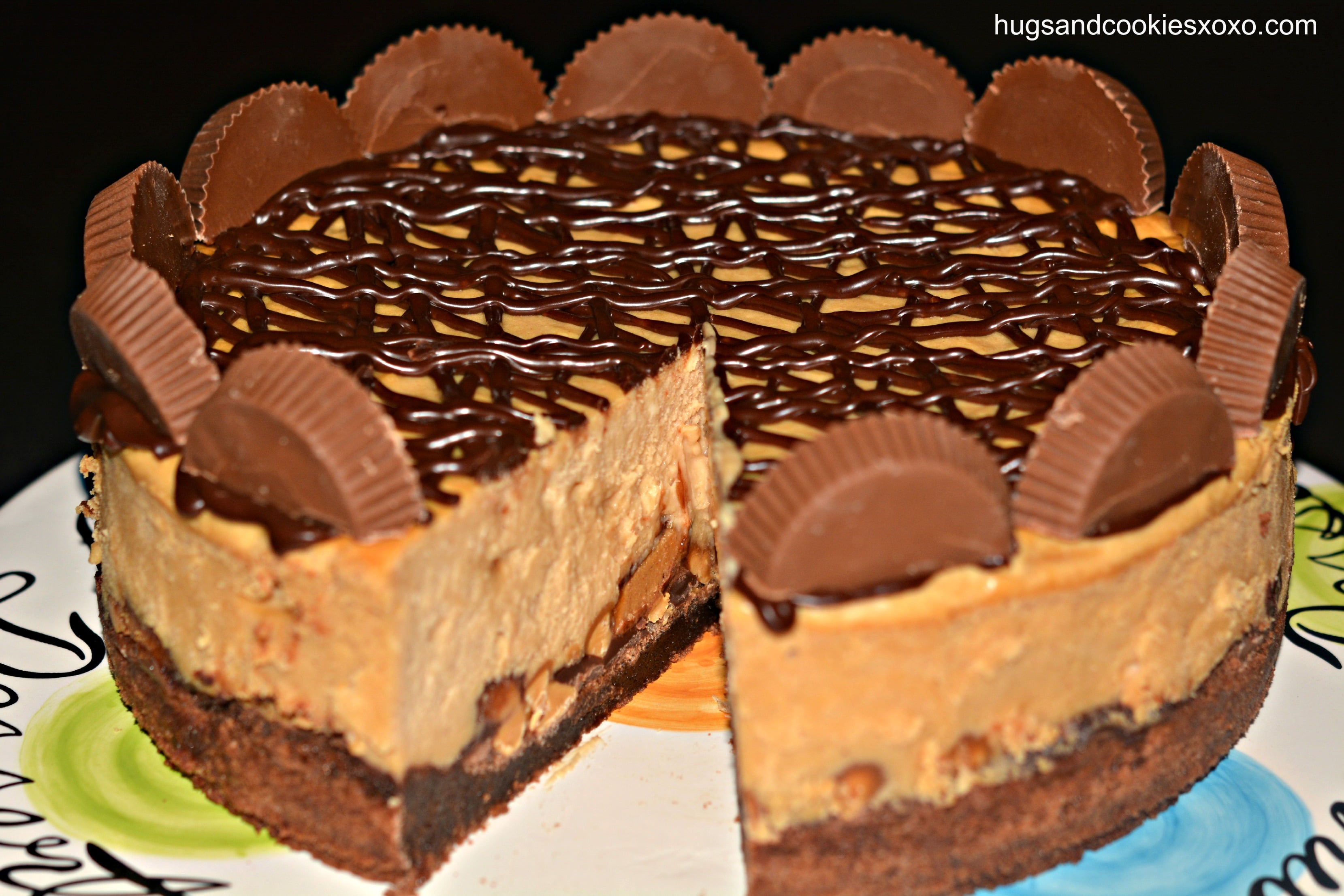 Reese's Peanut Butter Cup Cheesecake On A Brownie Crust ...