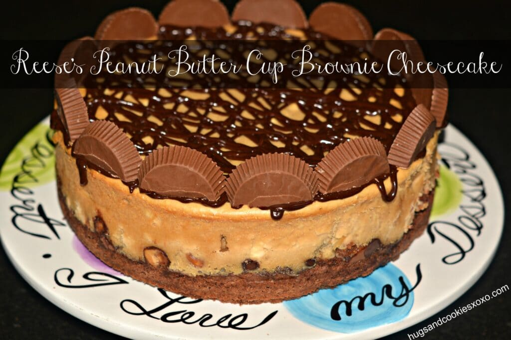 Reese's peanut butter cup cheesecake on a brownie crust is as dreamy ...