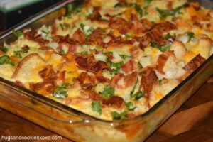 Bacon, Egg, Cheese and Spinach Casserole