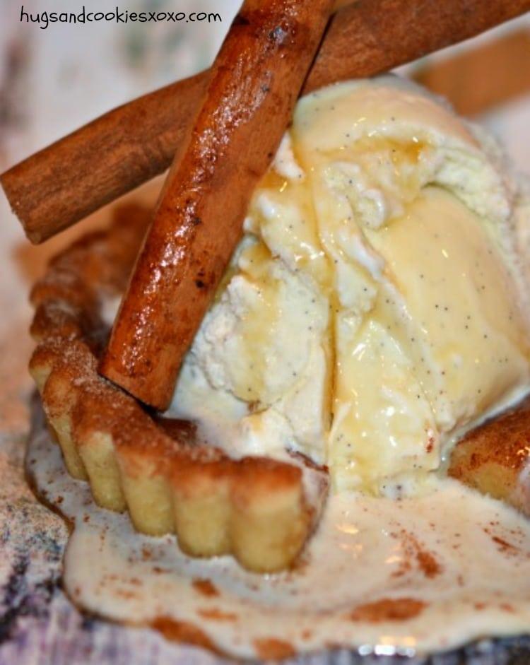french toast ice cream cookie tarts