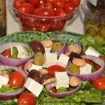 Greek Salad With Kalamata Olive Dressing