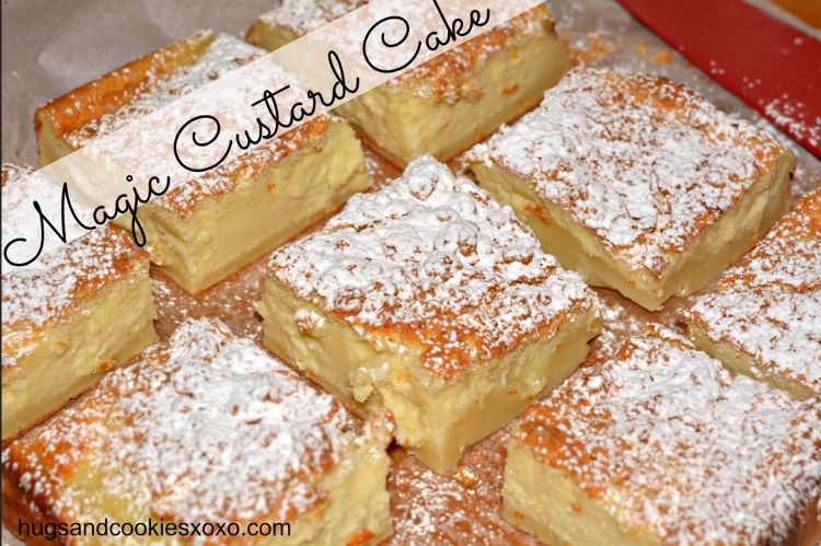 magic custard cake bars