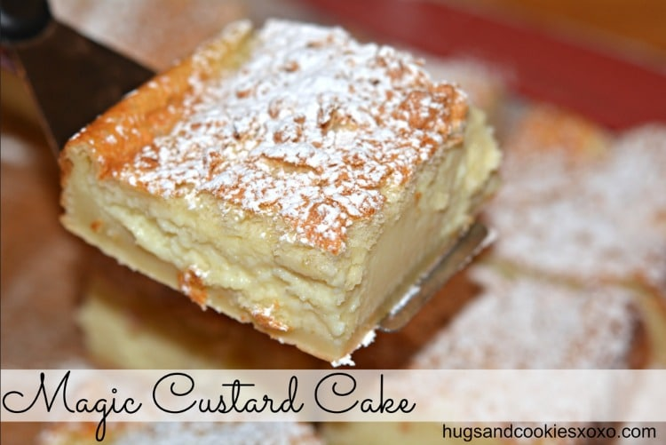 magic custard cake slice