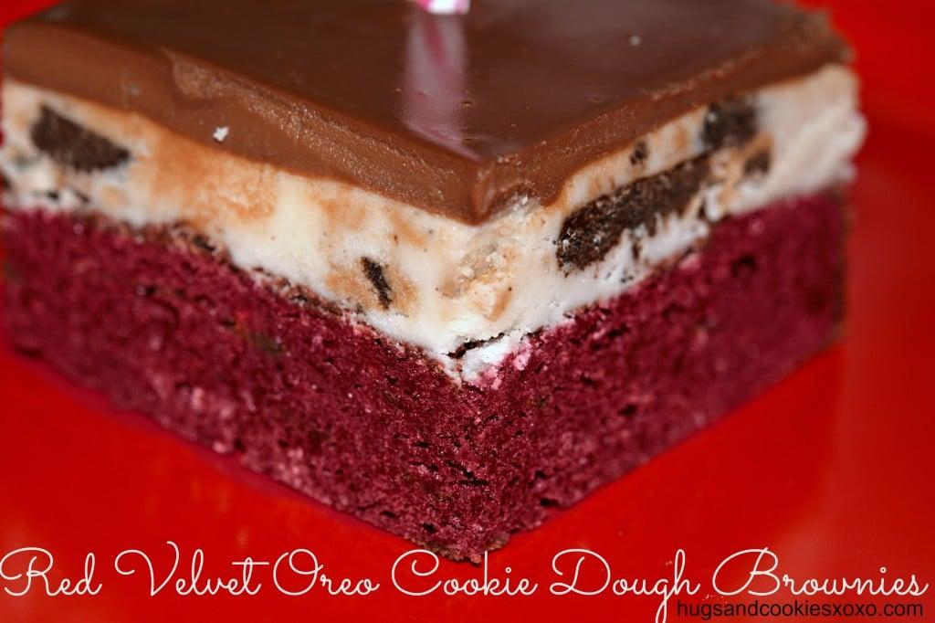 red velvet oreo brownies
