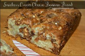 Snickers Cream Cheese Banana Bread