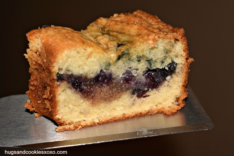 Frozen Blueberry Sour Cream Coffee Cake