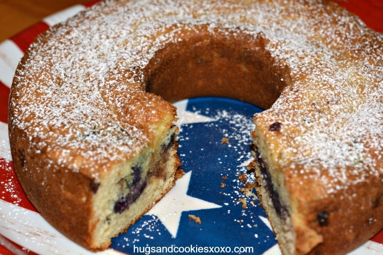 Sour Cream Coffee Cake Stuffed With Almond Paste and Blueberries ...