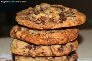Chocolate Chip Cookies Stuffed With Brownie Chunks