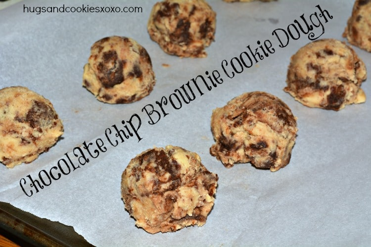 Chocolate Chip Cookies Stuffed With Brownie Chunks - Hugs ...