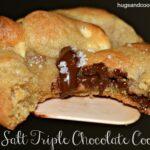 Triple Chocolate Sea Salt Cookies
