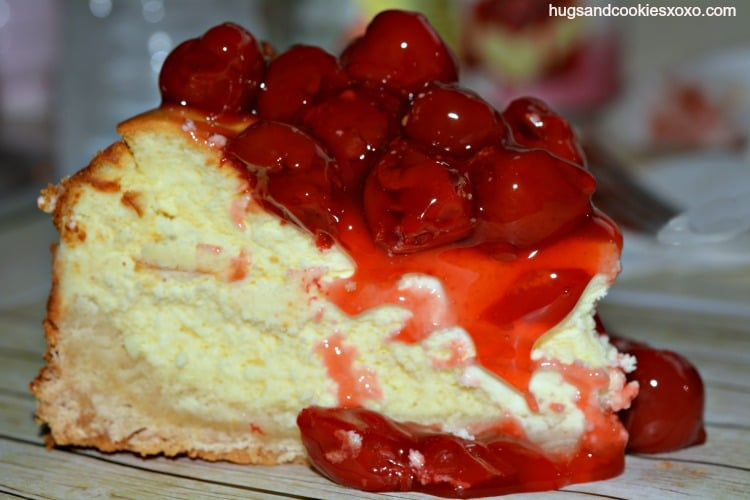 Sugar Cookie Cherry Cheesecake