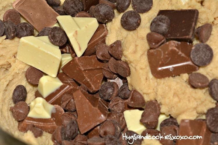 Toblerone Chocolate Chip Cookie Bars Hugs And Cookies Xoxo