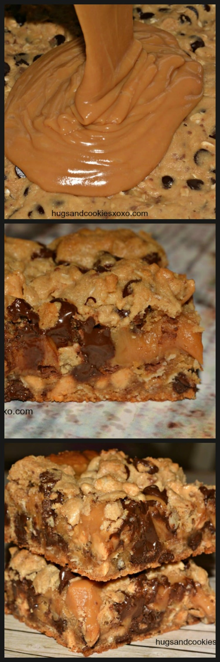Toffee Peanut Butter And Caramel Cookie Bars Hugs And
