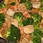 Fried Rice With Scallops and Salmon