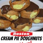 Boston Cream Pie Donuts