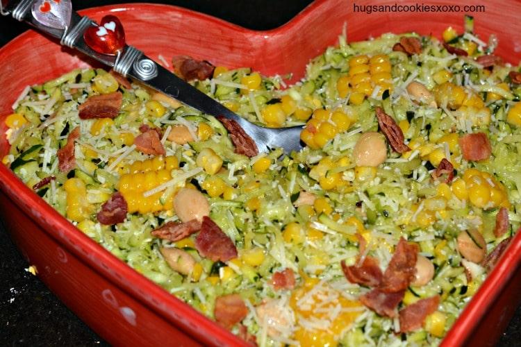cold zucchini noodle salad