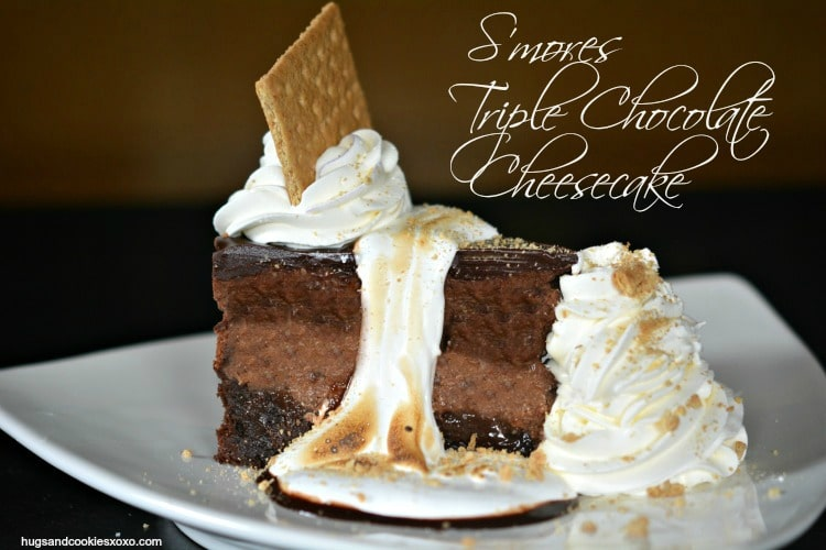 Copycat Cheesecake Factory Toasted S'mores Chocolate Cheesecake - Hugs ...