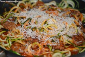 Zoodles With Chicken Sausage