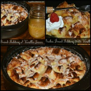 Creme Brulee Bread Pudding With Vanilla Sauce