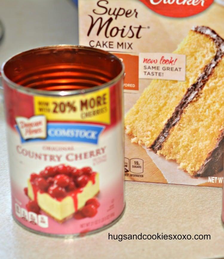 dump cherry cake