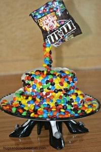 Magic M & M Brownie Cake