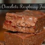 Slow Cooker Milk Chocolate Raspberry Fudge