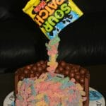 Sour Patch Kid Gravity Cake